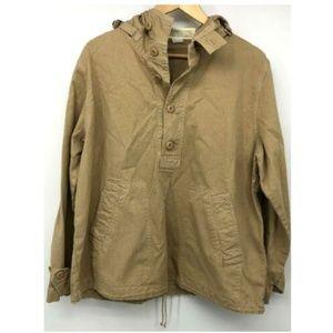 J Crew Womens Heritage Jacket Tan L Button Coat Lo
